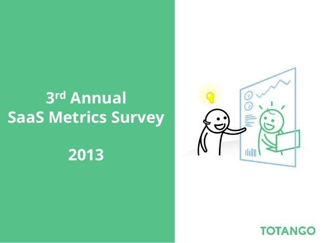 3rd Annual SaaS Metrics Survey 2013