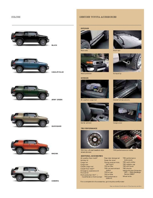 2013 Toyota Fj Cruiser Brochure Or Portland Toyota Dealer