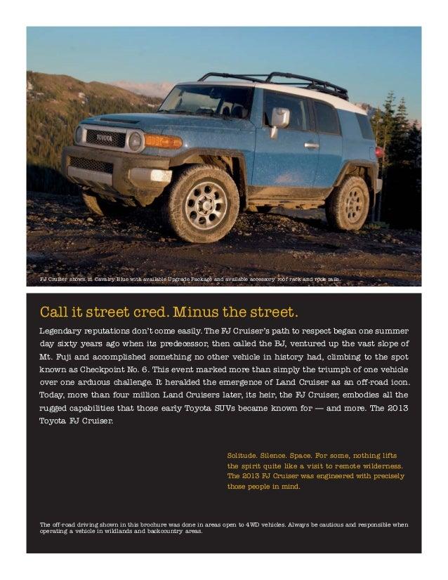 Griffith Toyota The Dalles >> 2013 Toyota FJ Cruiser Brochure OR | Portland Toyota Dealer