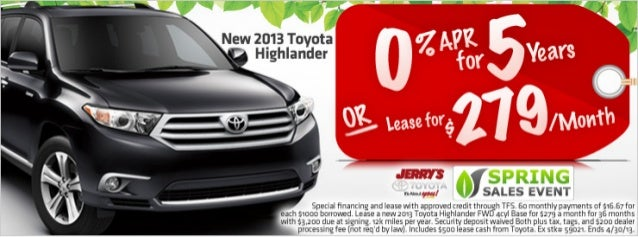 2013 Toyota Highlander at Jerry's Toyota in Baltimore, Maryland