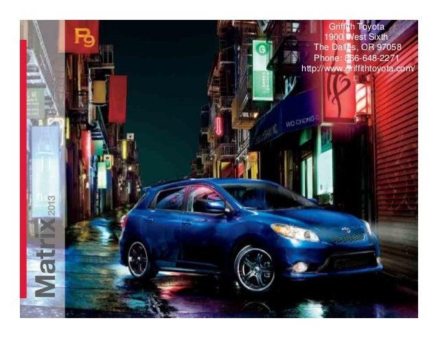 Griffith Toyota The Dalles >> 2013 Toyota Matrix Brochure OR | Portland Toyota Dealer