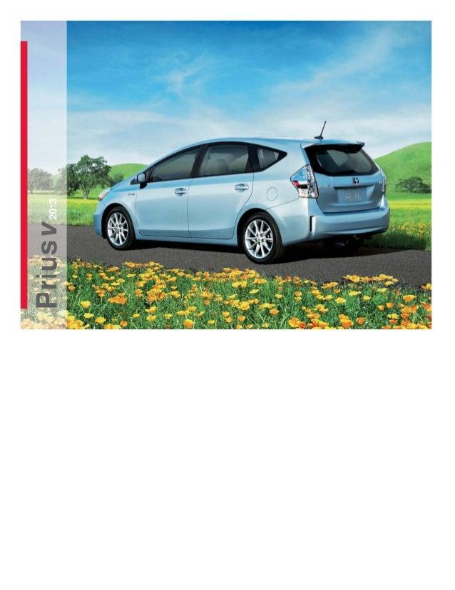 2013 Toyota Prius V Brochure - Los Angeles Toyota Scion Used Cars