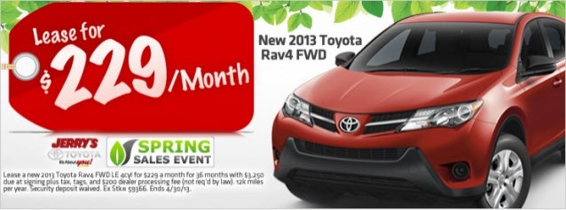 2013 Toyota Rav4 at Jerry's Toyota in Baltimore, Maryland