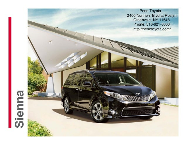 2013 toyota sienna brochure ny queens toyota dealer for Griffith motors home pa