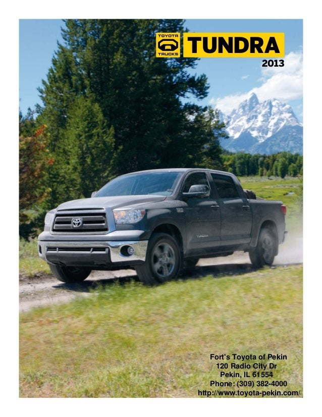2013 Toyota Tundra Brochure IL | Toyota dealer serving Peoria