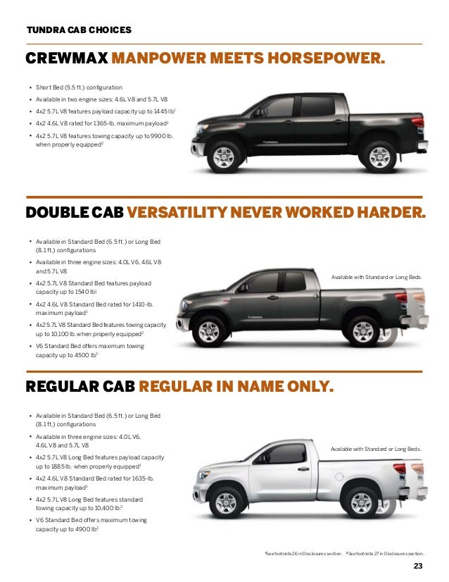 2013 toyota tundra brochure il toyota dealer serving peoria Toyota Tundra Bed Length Options