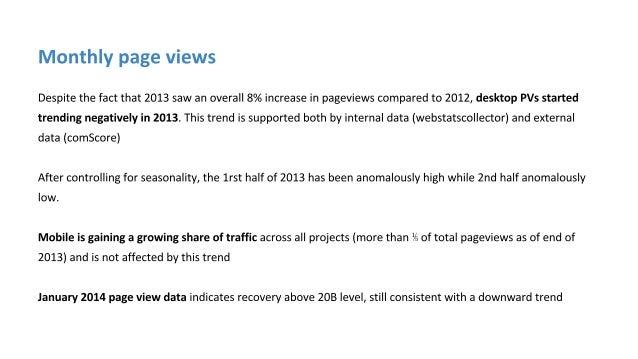 Wikimedia 2013 traffic trends Slide 3