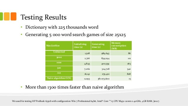 word matching algorithm