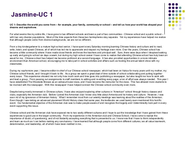 Uc Transfer Essay Prompt
