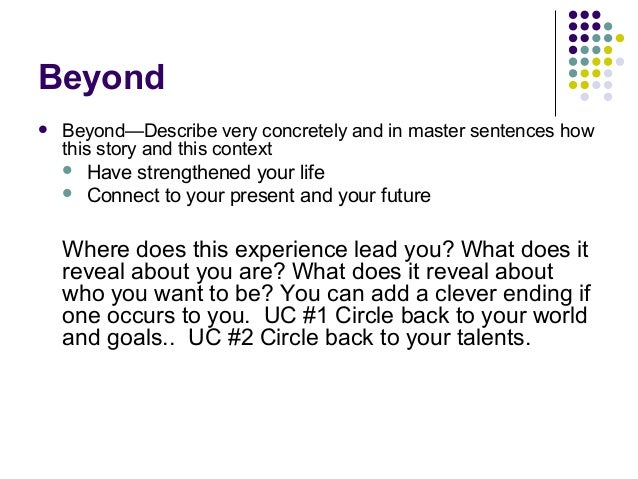 tell your personal story advice for university of ca applicatio  20