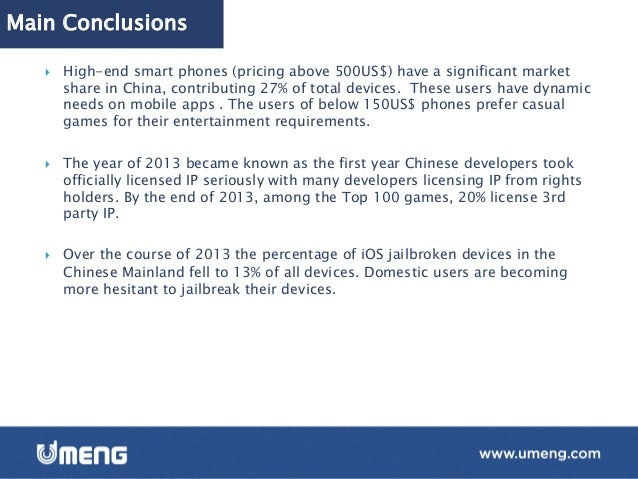 700 Million active smart devices in China } By  the  end  of  2013,  the  number  of  ac6ve  smart  ...