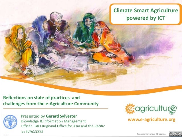Climate Smart Agriculture                                                                     powered by ICTReflections on...