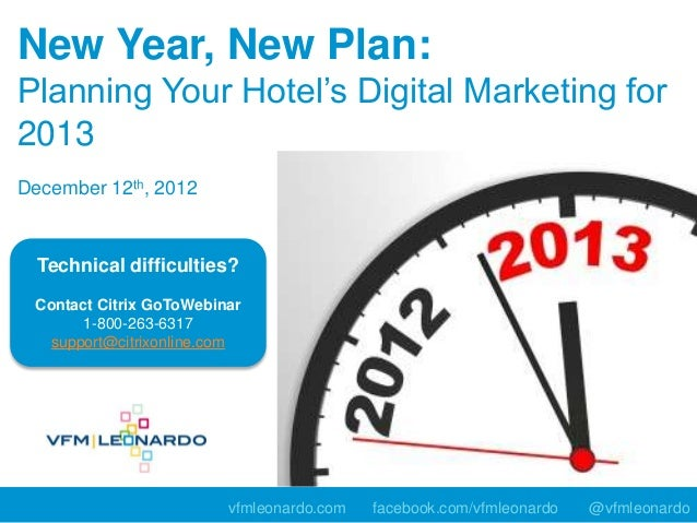New Year, New Plan:Planning Your Hotel's Digital Marketing for2013December 12th, 2012  Technical difficulties? Contact Cit...