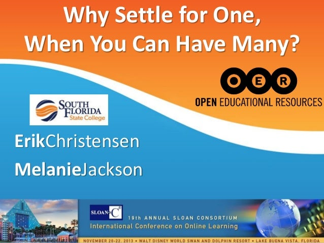 Why Settle for One, When You Can Have Many?  ErikChristensen MelanieJackson