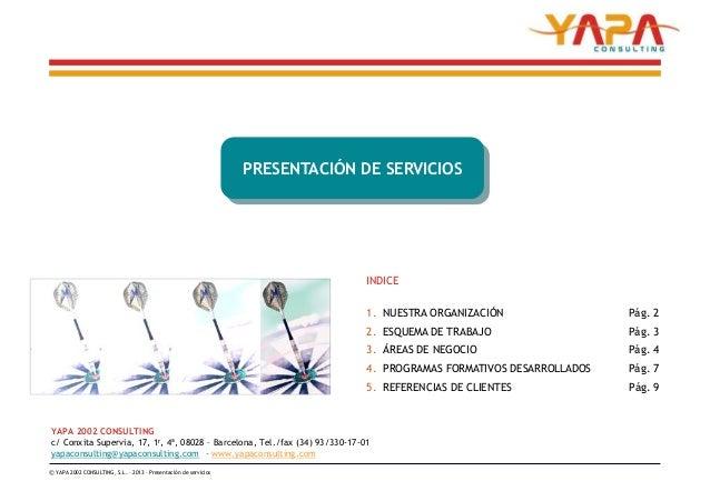 PRESENTACIÓN DE SERVICIOS                                                                                INDICE           ...