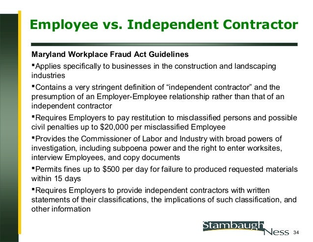 Employee v. Independent Contractor