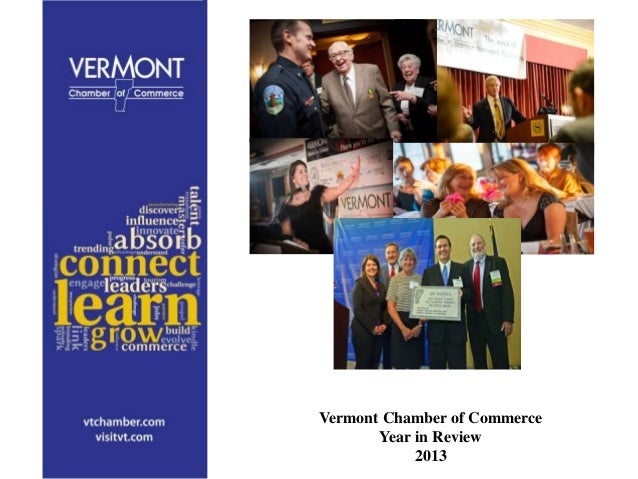 Vermont Chamber of Commerce Year in Review 2013