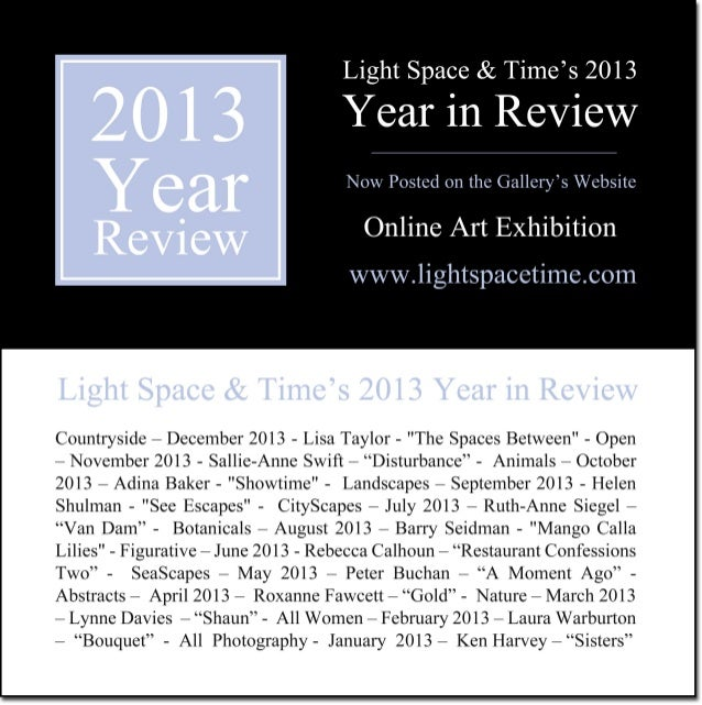 2013 Year in Review - Event Postcard