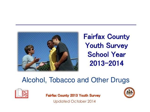 Fairfax County  Youth Survey  School Year  2013-2014  Alcohol, Tobacco and Other Drugs  Fairfax County 2013 Youth Survey  ...