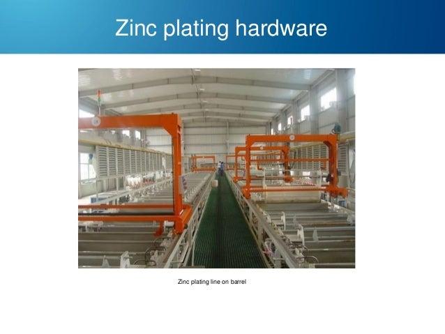 Zinc plating hardware  Zinc plating line on barrel