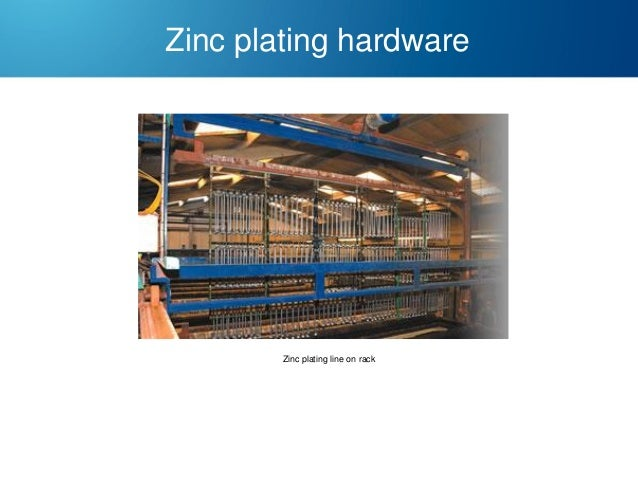 Zinc plating hardware  Zinc plating line on rack