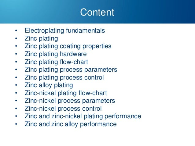 zinc process flow diagram zinc and zinc alloy plating  zinc and zinc alloy plating