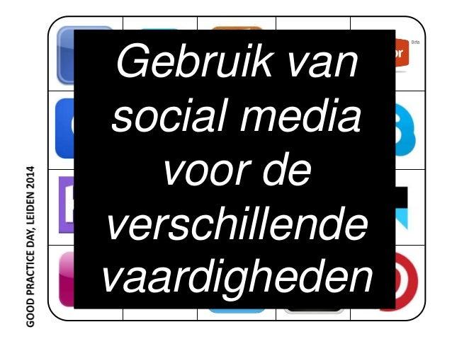 Gebruik van social media voor de verschillende vaardigheden