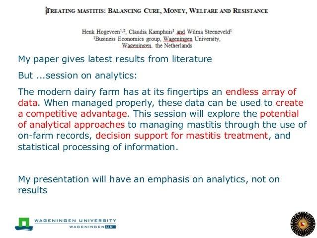 Balancing antibiotic treatment with regard to mastitis Slide 2