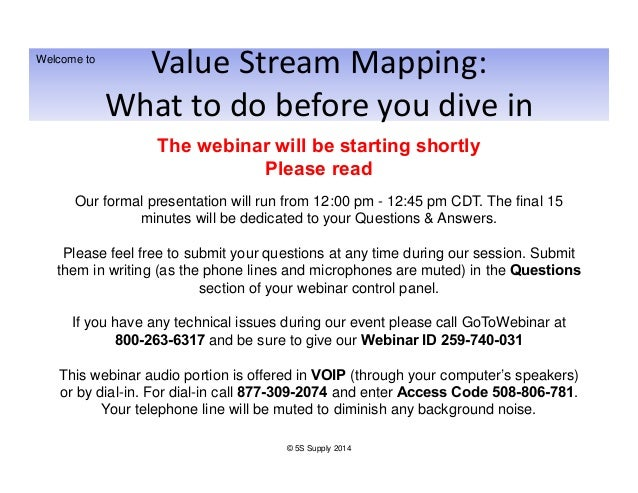 Value Stream Mapping: What to Do Before You Dive In Slide 2