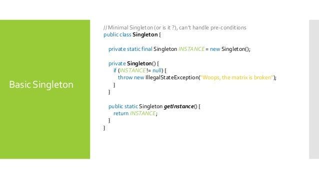Java Singleton Pattern Fascinating Singleton Pattern In Java