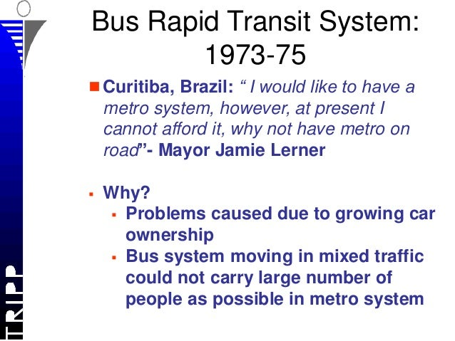 Webinar: Bus rapid transit system: metro on surface or high