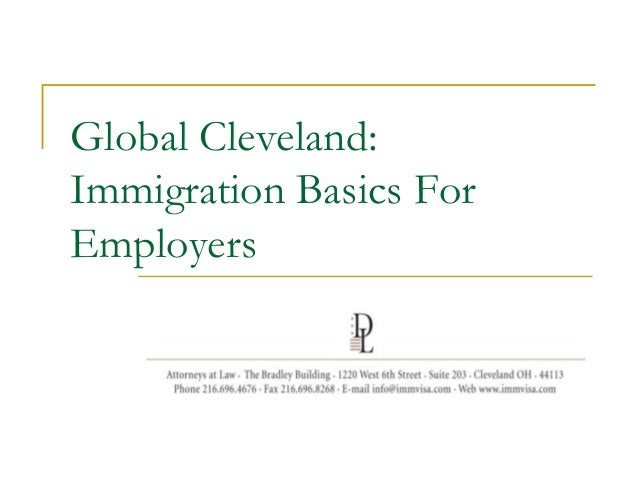 Global Cleveland: Immigration Basics For Employers