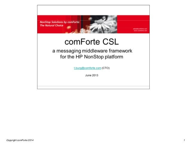 Copyright comForte 2014  1