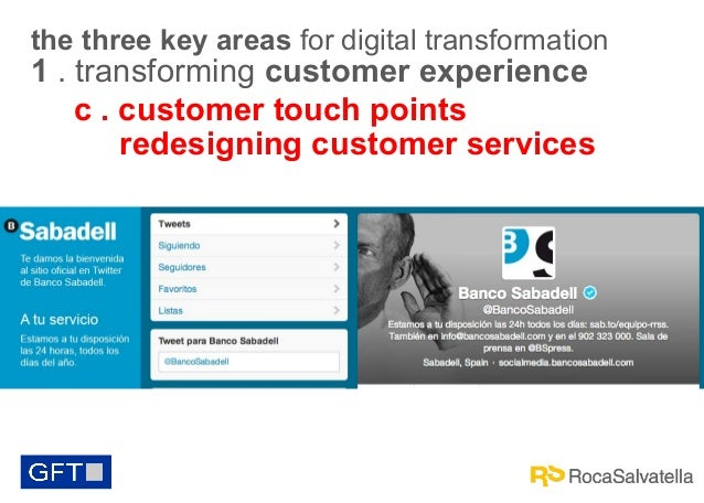 the three key areas for digital transformation  1 . transforming customer experience c . customer touch points redesigning...