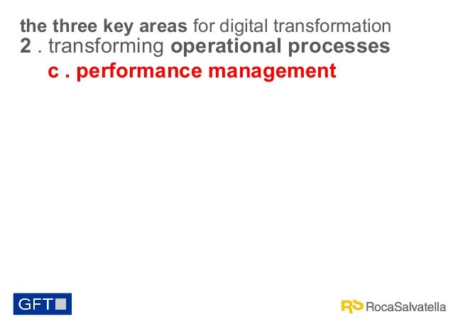 the three key areas for digital transformation  2 . transforming operational processes c . performance management