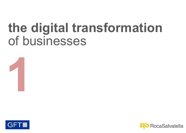 the digital transformation of businesses  1