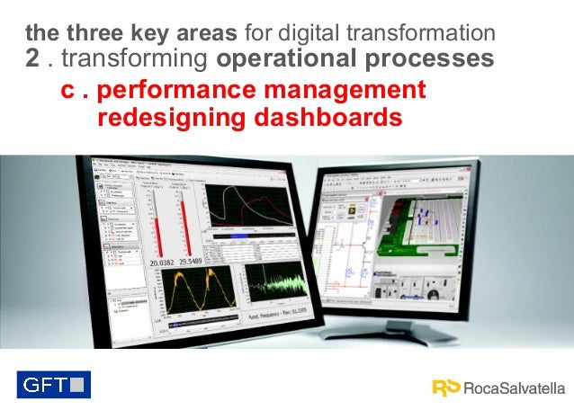 the three key areas for digital transformation  2 . transforming operational processes c . performance management redesign...