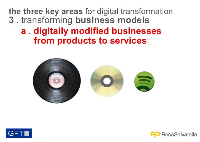 the three key areas for digital transformation  3 . transforming business models a . digitally modified businesses from pr...