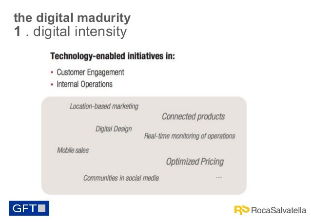 the digital madurity  1 . digital intensity