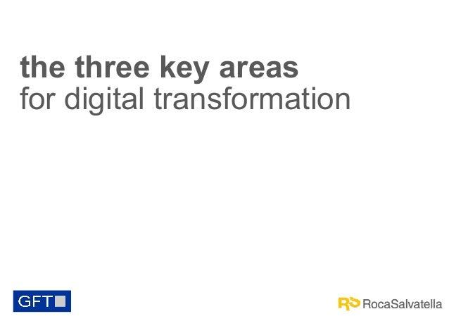 the three key areas for digital transformation