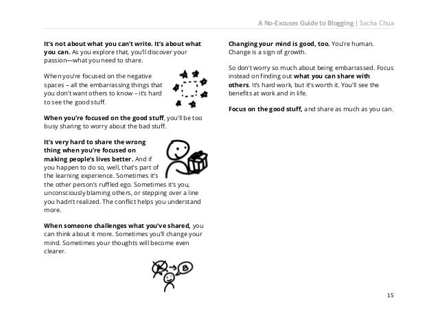 A No-Excuses Guide to Blogging   Sacha Chua  17