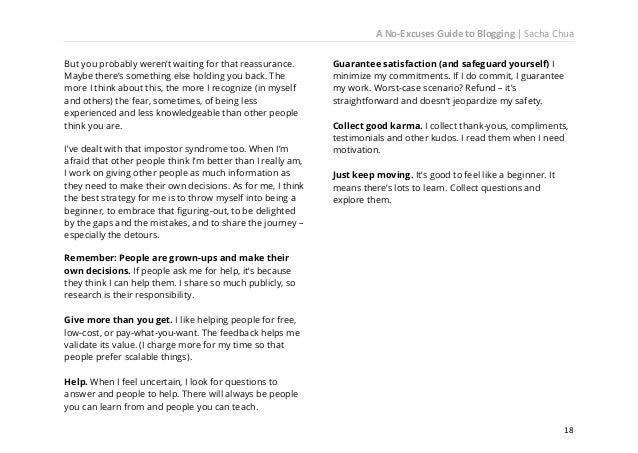 A No-Excuses Guide to Blogging   Sacha Chua  20