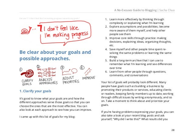 A No-Excuses Guide to Blogging   Sacha Chua post weekly reviews because they're useful to me even if they're less useful f...
