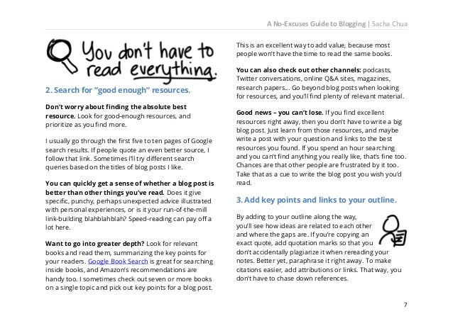 A No-Excuses Guide to Blogging   Sacha Chua didn't write about those tips because they're more experienced than you and th...