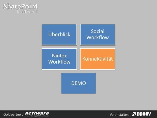 Veranstalter:Goldpartner: Überblick Social Workflow Nintex Workflow Konnektivität DEMO