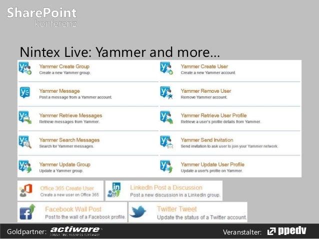 Veranstalter:Goldpartner: Nintex Live: Yammer and more…