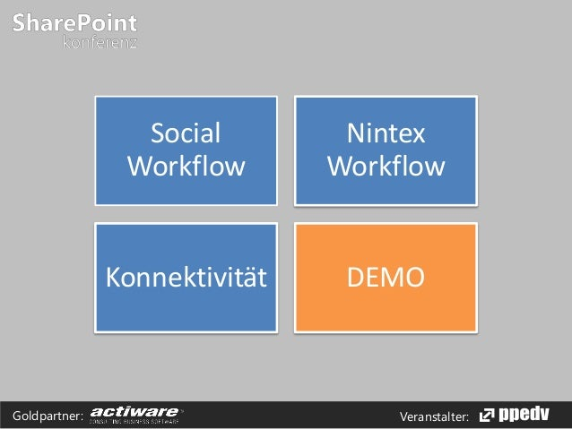 Veranstalter:Goldpartner: Social Workflow Nintex Workflow Konnektivität DEMO