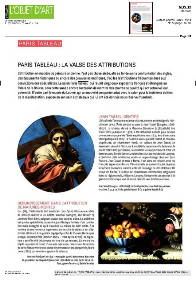 Press book ParisTableau 2013