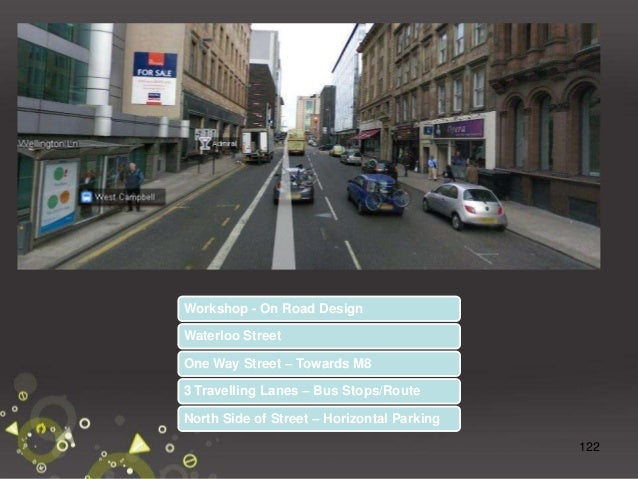 123 Workshop – On Road Design On Road Designs – Split into your groups and discuss the provisions including the width of c...