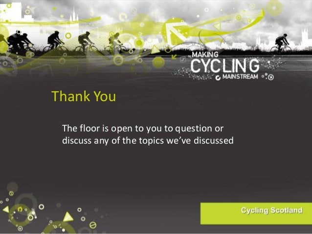 2014 03-13 Planning and Designing for Cyclists